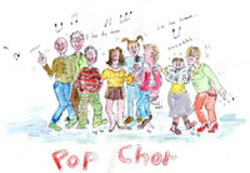 Musikschule Lass Pop Chor Zeichnung